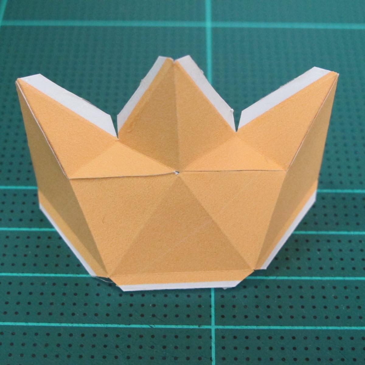 วิธีทำโมเดลกระดาษตุ้กตาสัตว์เลี้ยง หยดทองจากเกมส์ คุกกี้รัน (LINE Cookie Run Gold Drop Papercraft Model - クッキーラン  「黄金ドロップ」 ペーパークラフト) 006