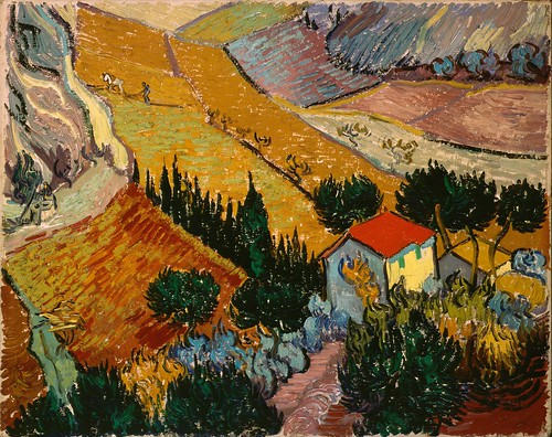 Vincent van Gogh - Landscape with House and Ploughman | by chenliga