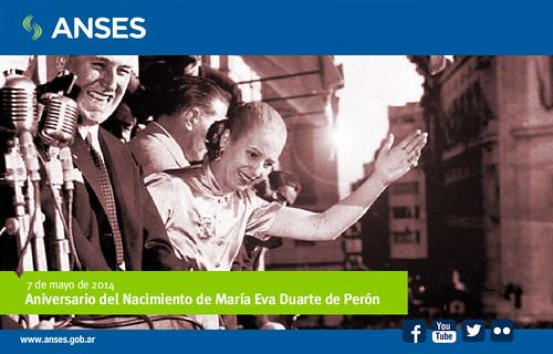 7 de mayo. Aniversario del Nacimiento de Eva Duarte de Perón