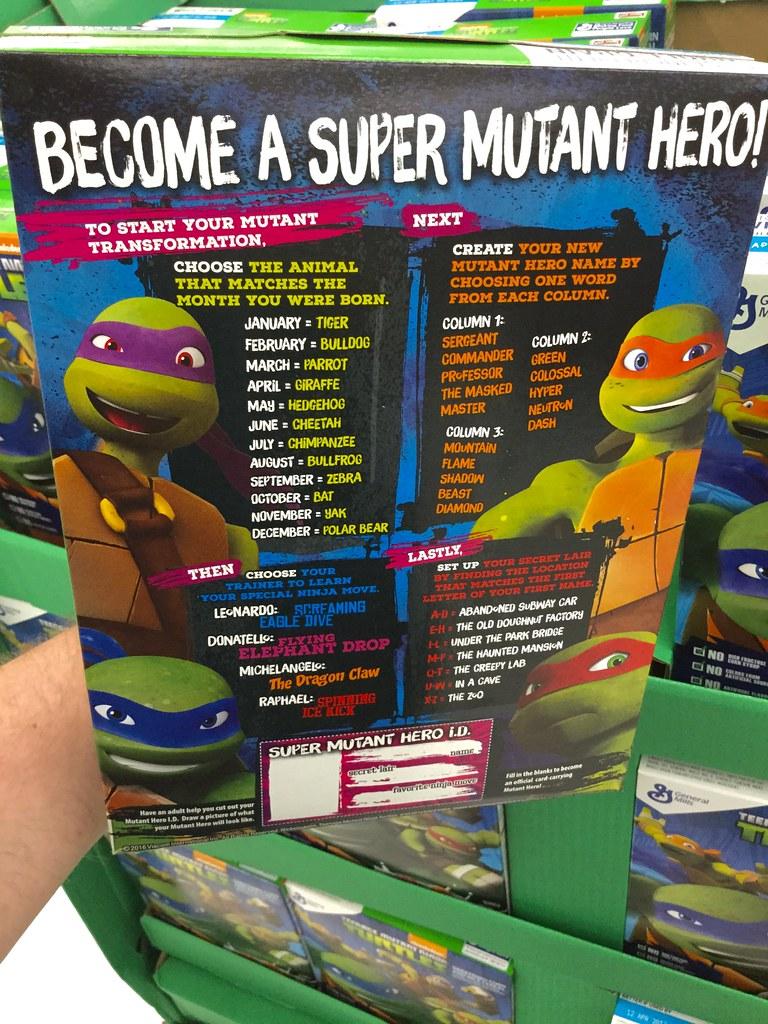 Teenage Mutant Ninja Turtles, Kids Breakfast Cereal, Gener