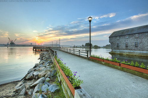 ocean park wood old light sea flower color art rock photoshop sunrise canon river landscape dawn coast harbor pier town seaside dock streetlight scenery downtown village crane navy scenic newengland newhampshire peaceful wideangle nh scene historic atlantic warehouse coastal shore portsmouth boardwalk nautical shipyard naval plank hdr prescott seacoast prescottpark photomatix strawberrybanke 5dmarkii sheafe ericgendron prescottpier