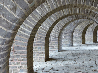 Amphitheater arches, Xanten, Germany | by romanboed