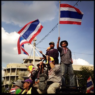 Protesters on the streets of Bangkok | by fabianmohr