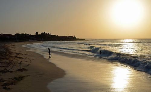 ocean morning sea beach sunrise landscape coast shore santamaria sal capeverde kapverde