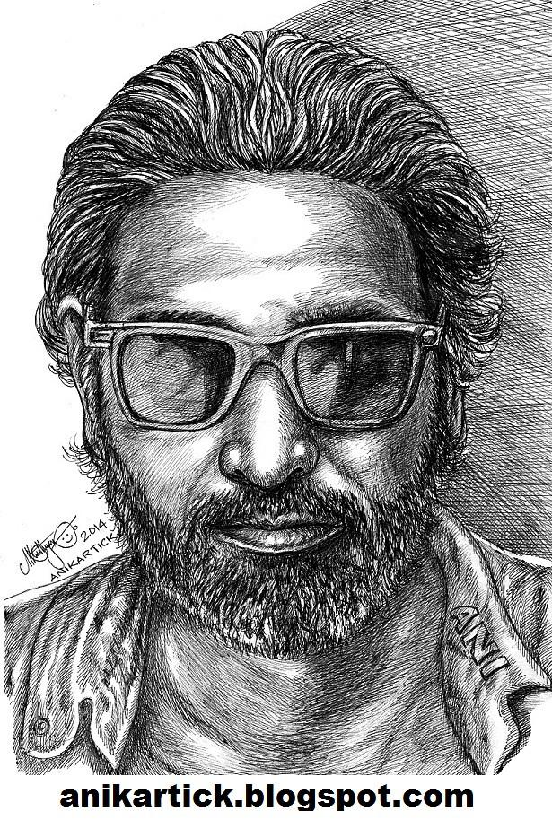 Actor Vijay Sethupathy Tamil Actor Portrait Pen Dr Flickr