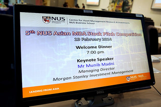 5th NUS Asian MBA Stock Pitch Competition (Day 1), 19 - 21 February 2014
