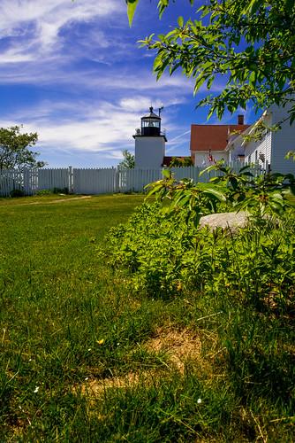 light lighthouse house landscape coast maine