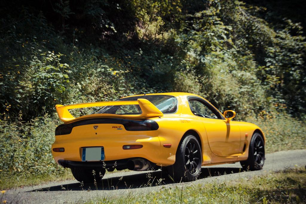 Yellow Mazda Rx7 Mickael Favre Flickr