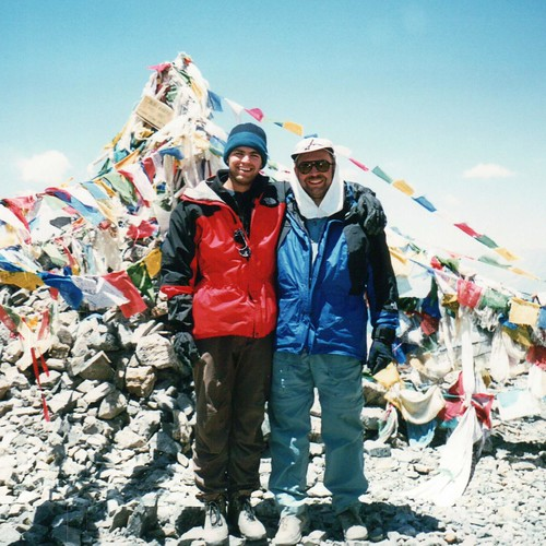 Dad and Me, on top of Thorong La in Nepal | by designerBrent
