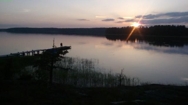 Uno de los mil lagos de Finlandia