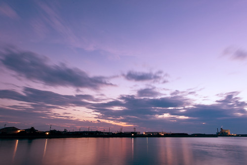 blue light sunset sea summer sky orange cloud sun color nature colors beautiful silhouette yellow japan night landscape photography evening nikon scenery bluesky d800 1424 nikoor 1424mm