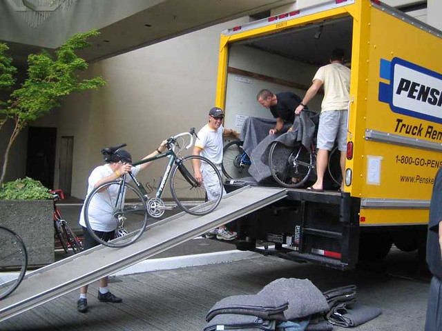 Loading Bikes for delivery to Seattle (from PDX)
