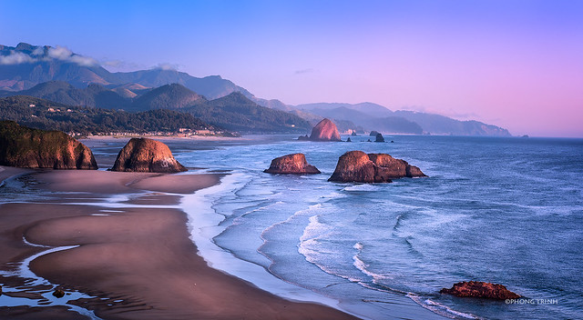 Cannon Beach, A View from Ecola State Park, OR