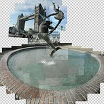 Fountain, Tower Bridge. Work in progress. #workinprogress #towerbridge #london #followme #fountain #sculpture #comments