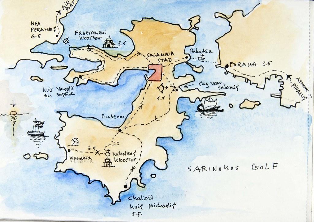 2015 05 06 Salamis Salamina Travel Map Travels During My Flickr