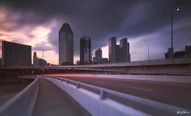 Sheares Bridge - Stormy Sunset (041215)