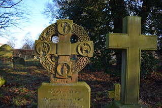 Saxon-style cross with the Four Evangelists