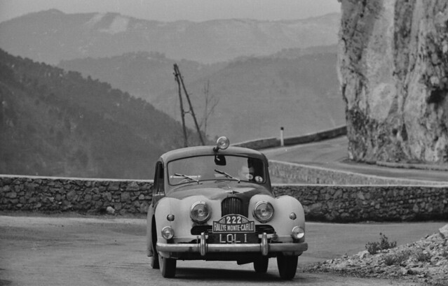 Jowett Jupiter 1953 Monte Carlo Rally - Frank Grounds Ken Rawlings Jack Hay