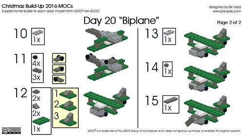 Day 20 Biplane instr 2 of 2 | by Bill Ward's Brickpile