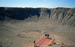 inside Canyon Diablo meteor impact crater