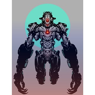 Cyborg Dude with Autodesk Sketchbook Pro & iPad | by EchoForm