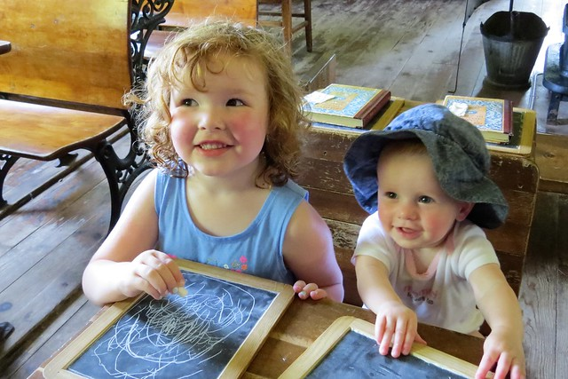 Sisters In the One Room Schoolhouse