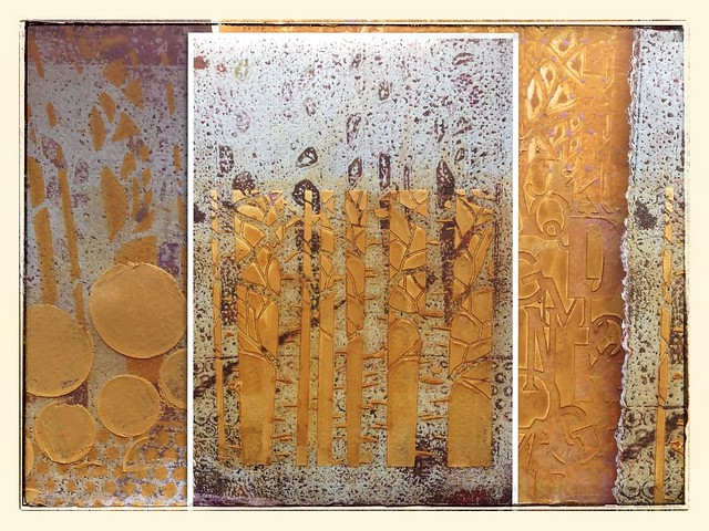 Gelli print collage