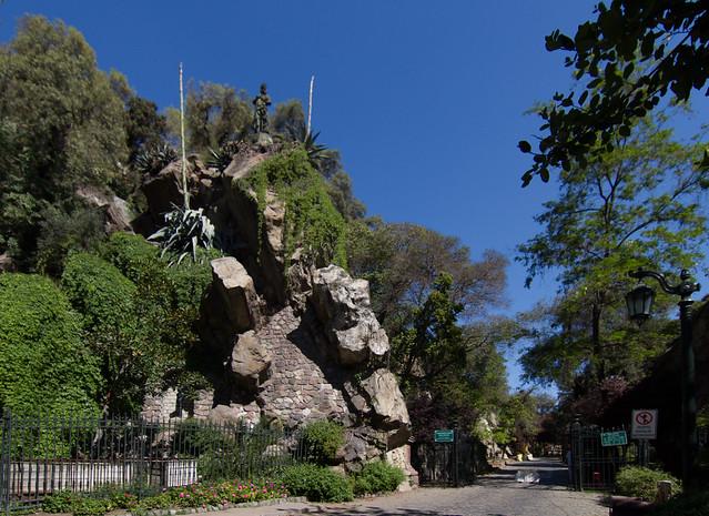 Entrada al Cerro Santa Lucia