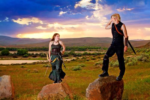 costumes sunset canon engagement couple cosplay medieval idaho fantasy 7d tamron twopeople weiser engagementsession 2875mm tamron2875mmf28 offcameraflash tamronspaf2875mmf28xrdildasphericalif weisersanddunes
