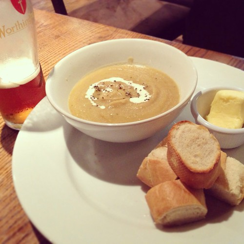 Roasted parsnip soup, the Black Swan Pub, Alnwick, Northumbria | by Texarchivist