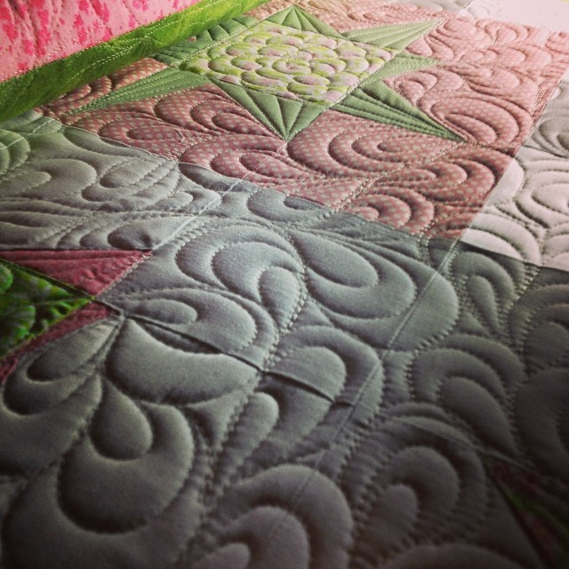 I kind of love the texture quilted paisleys gives.
