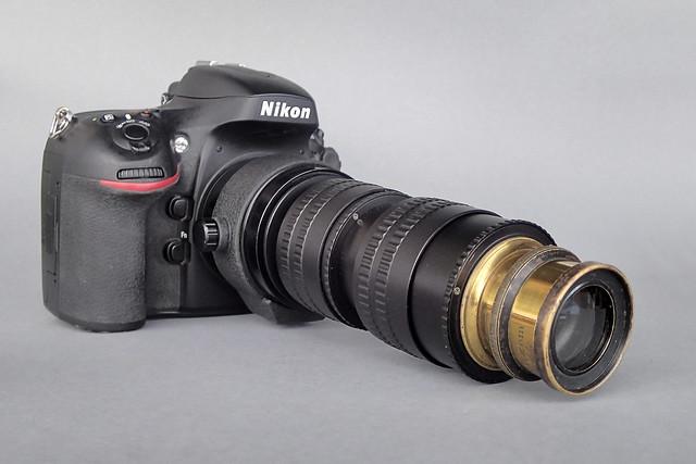 C Holtzen (Elberfeld) Aplanastigmat f8 on Nikon D800 Camera and Lens Set-up