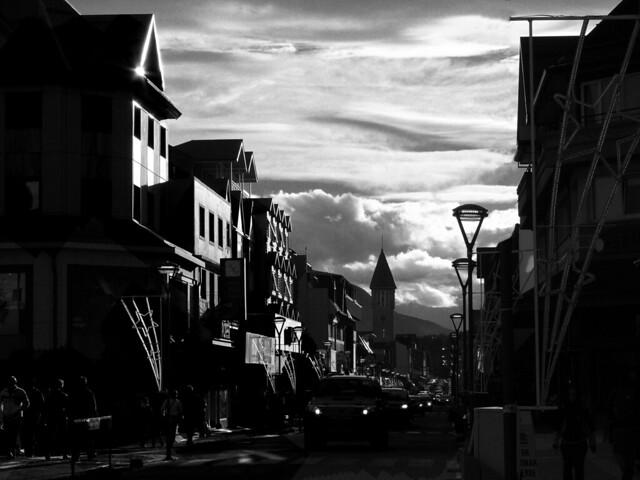 Sunset in Ushuaia city