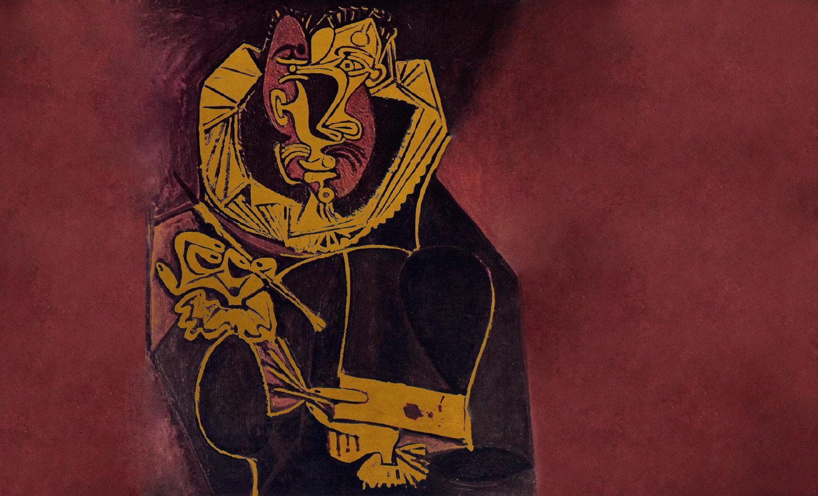 Autoretrato, pulsión de Doménikus Theokópoulos el Greco (1603), extrapolación de Pablo Picasso (1950).