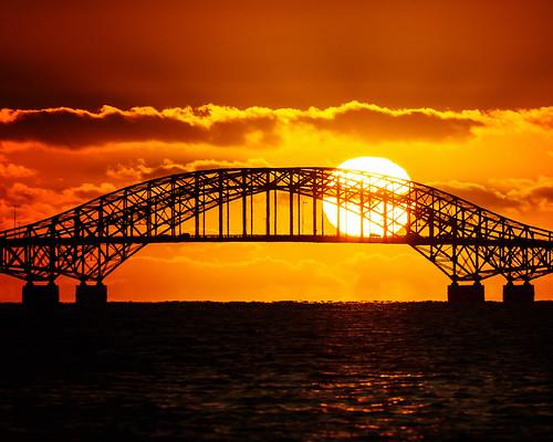 bridge sun seascape water ball landscape dawn amazing glorious majestic babylon robertmoses greatsouthbay robertmosescauseway babylonvillage babylonandbeyond