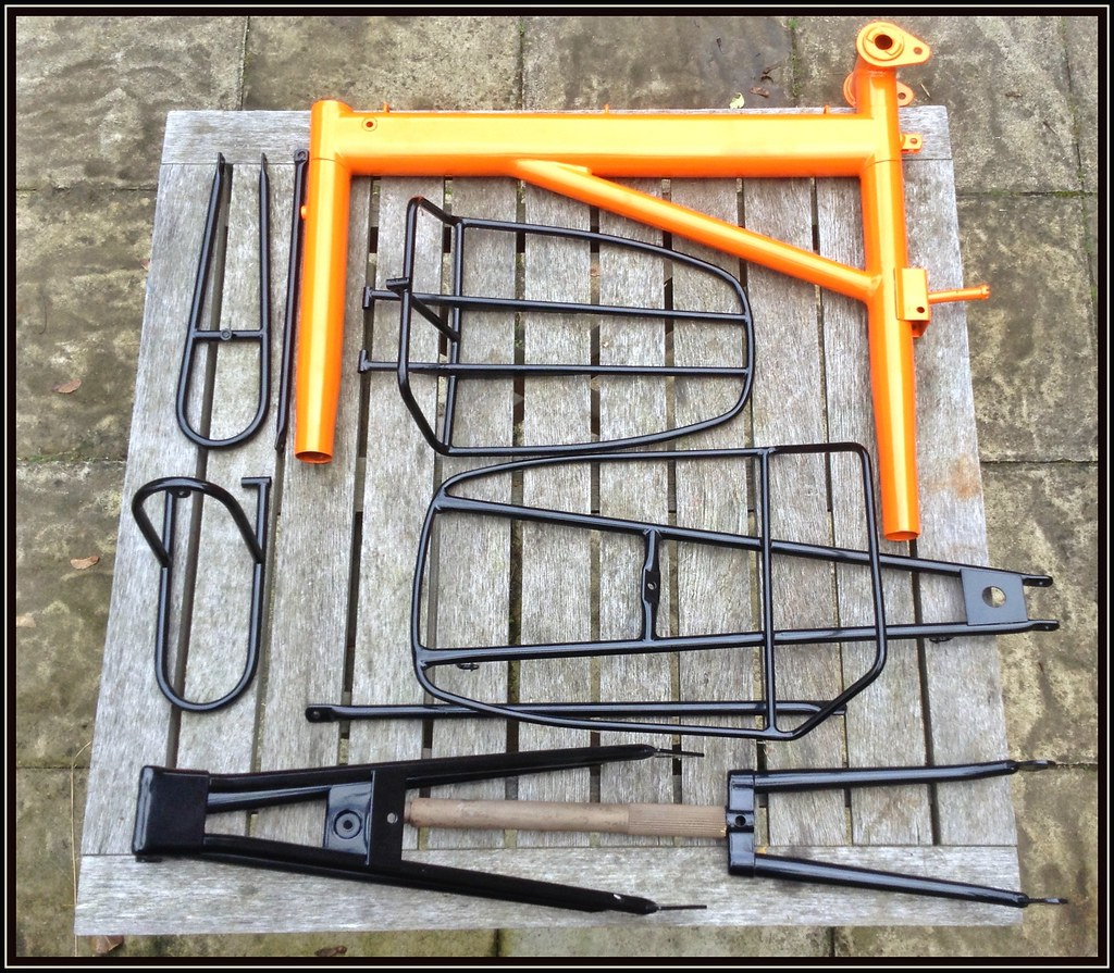 Moulton mk3 back from the paint shop | Front rack mount poin… | Flickr