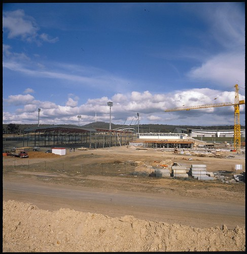 AIS Swim Hall, Bruce, ACT, under construction (1982) | by ArchivesACT