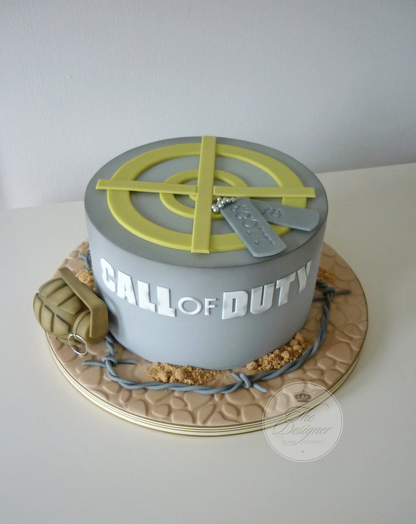 Pleasing Call Of Duty Birthday Cake Isabelle Bambridge Flickr Funny Birthday Cards Online Inifodamsfinfo