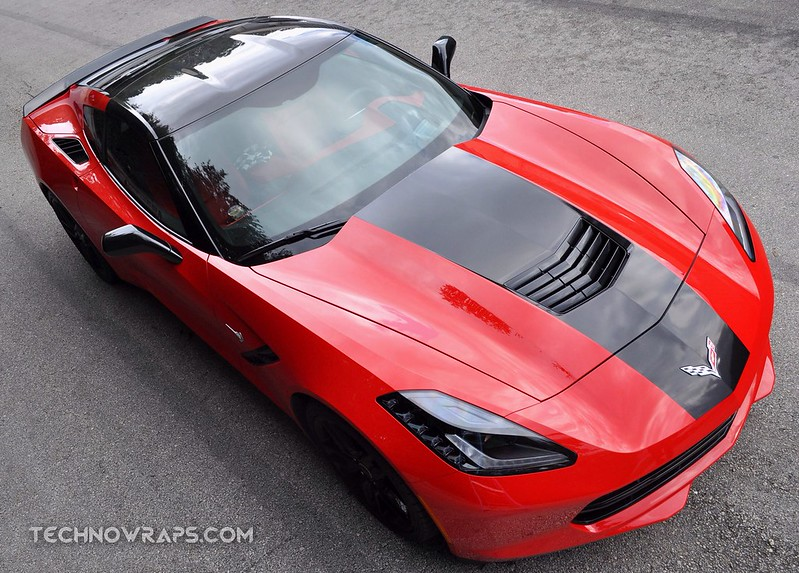Corvette car stripe graphics by TechnoSigns in Orlando