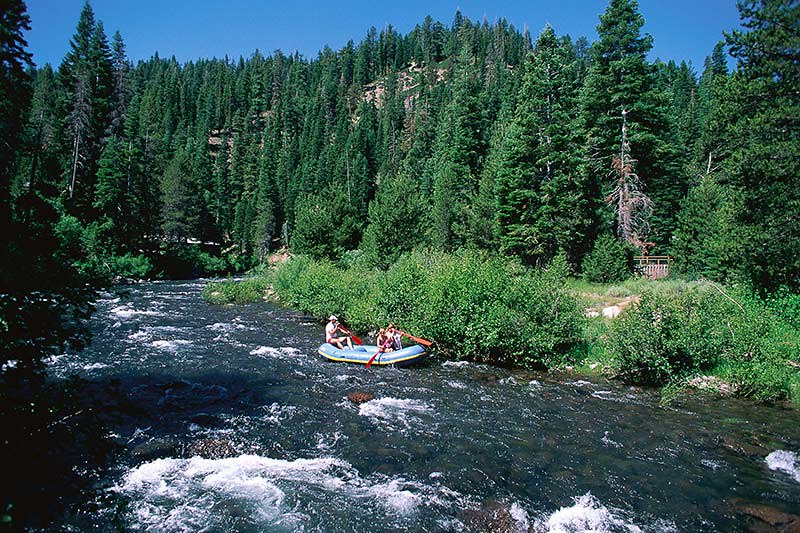 River Rafting on the Nahatlatch River; Outdoor Recreation in British Columbia, Canada