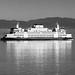 Black & White of the MV Tokitae Crossing Puget Sound by AvgeekJoe