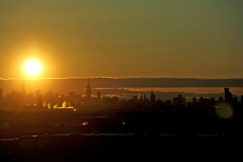 newyorkcity sky sun yellow sunrise skyscrapers sunandclouds cloudsandsky sunrisephotography