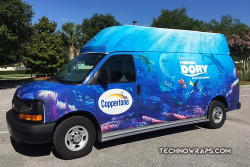 Vinyl van wrap for short term promotion in Orlando