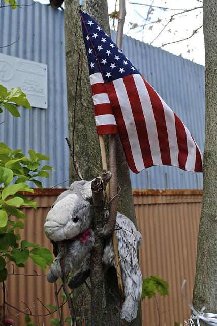 Patriotic Tree-Rabbit