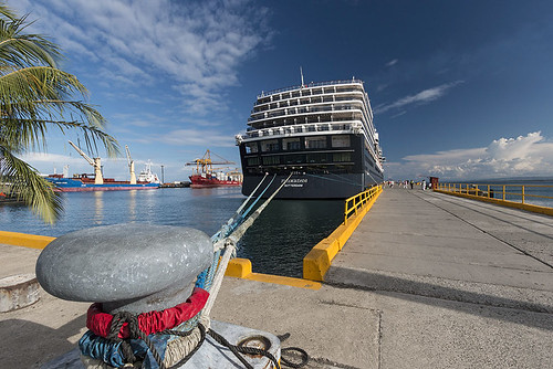 Zuiderdam at Anchor - Puerto Limon | by tantonr