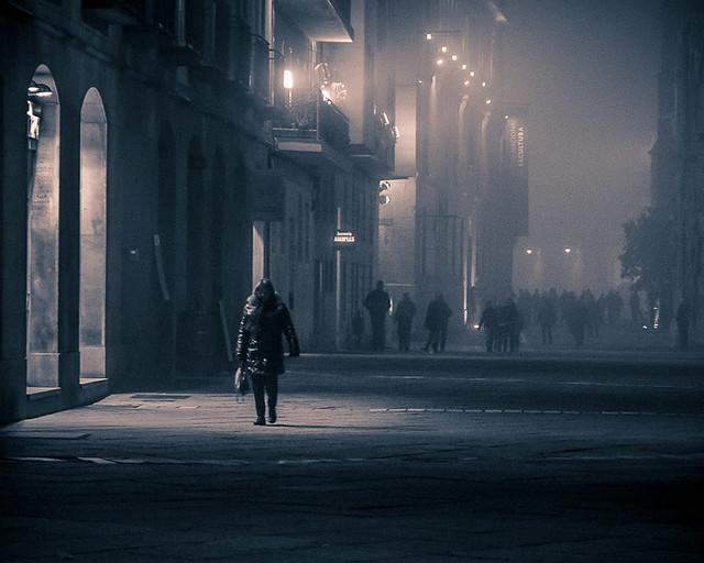 Noche de frio y niebla (Valladolid)