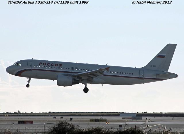 Rossiya Airlines VQ-BDR @ LFMN 30-12-2013