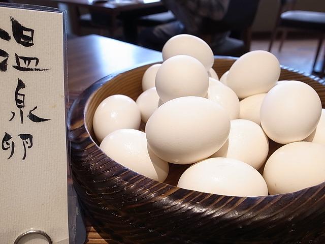 <p>那須御養卵を温泉卵で</p>