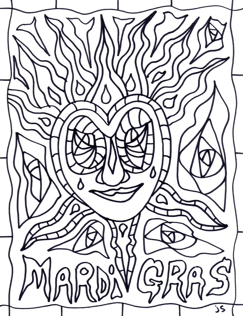 Mardi Gras Coloring Page Coloring Page For Mardi Gras Flickr