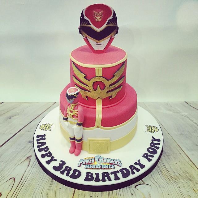 Magnificent Tonight Red Mega Force Power Ranger 3Rd Birthday Cake Ama Flickr Funny Birthday Cards Online Inifodamsfinfo